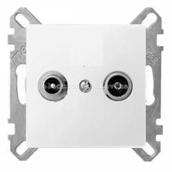 Розетка TV проходная Schneider Electric Merten System M активно-белый