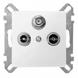 Розетка TV/R+SAT индидуальная Schneider Electric Merten System M активно-белый