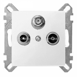 Розетка TV/R+SAT индидуальная Schneider Electric Merten System M полярно-белый