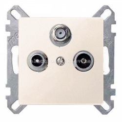 Розетка TV/R+SAT оконечная Schneider Electric Merten System M бежевый