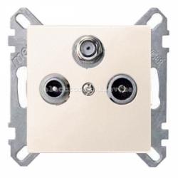 Розетка TV/R+SAT индидуальная Schneider Electric Merten System M бежевый