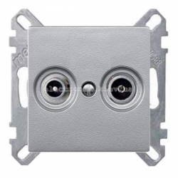Розетка TV  Schneider Electric Merten System M алюминий