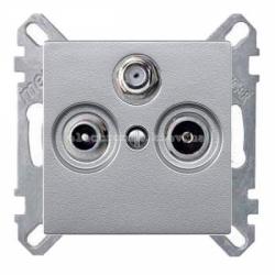 Розетка TV/R+SAT оконечная Schneider Electric Merten System M алюминий