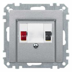 Аудио розетка одинарная Schneider Electric Merten System M алюминий