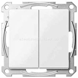 Выключатель 2-клавишный Schneider Electric Merten System M полярно-белый