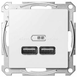 USB розетка 2,1 А Schneider Electric Merten System M полярно-белый