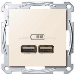 USB розетка 2,1 А Schneider Electric Merten System M бежевый