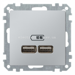USB розетка 2,1 А Schneider Electric Merten System M алюминий