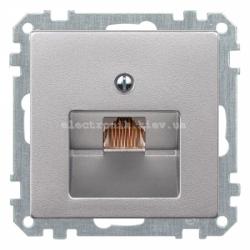 Розетка телефонная RJ12 Schneider Electric Merten System M алюминий