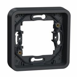 Рамка одноместная без винтов IP55, черная, Mureva Styl Schneider Electric MUR34107