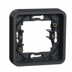 Рамка одноместная с зажимами IP55, черная, Mureva Styl Schneider Electric MUR34108