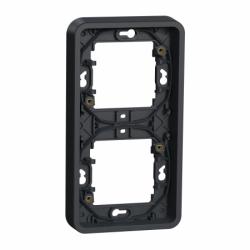 Рамка двухместная вертикальная IP55, черная, Mureva Styl Schneider Electric MUR34151