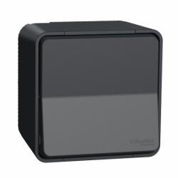 Переключатель одноклавишный в сборе IP55 для поверхностного монтажа, черный, Mureva Styl Schneider Electric MUR35021