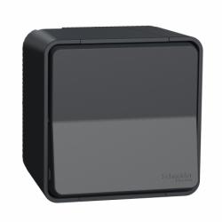 Кнопочный выключатель в сборе IP55, черный, Mureva Styl Schneider Electric MUR35026
