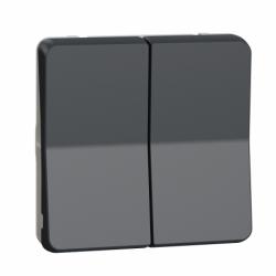 Механизм кнопочного выключателя для управления жалюзи IP55, черный, Mureva Styl Schneider Electric MUR35042
