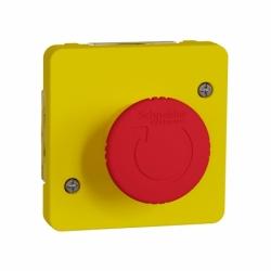 Механизм аварийного выключателя с поворотным регулятором IP55, желтый, Mureva Styl Schneider Electric MUR35053