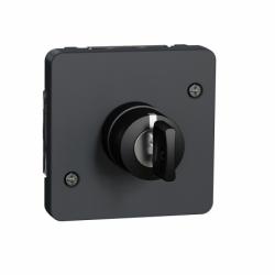 Механизм выключателя с ключом на 3 положения IP55, черный, Mureva Styl Schneider Electric MUR35061