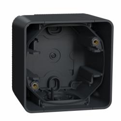 Одноместный бокс для накладного монтажа IP55, черный Mureva Styl Schneider Electric MUR37911