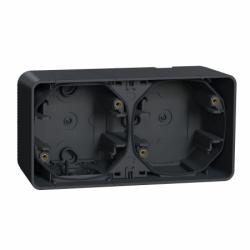 Двухместный бокс для поверхностного монтажа IP55, черный Mureva Styl Schneider Electric MUR37914