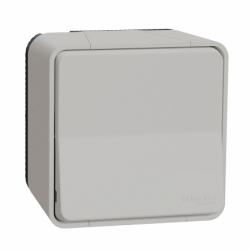 Переключатель одноклавишный в сборе IP55 для поверхностного монтажа, белый, Mureva Styl Schneider Electric MUR39021