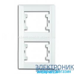 Makel Lilium Natural Kare Белый Двойная рамка вертикальная