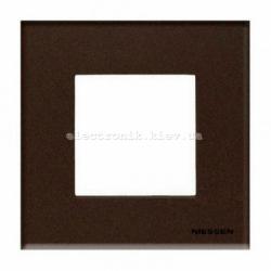 Рамка одинарная ABВ Zenit стекло кофейное