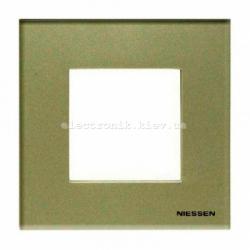 Рамка одинарная ABВ Zenit жемчужное стекло