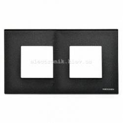Рамка двойная ABВ Zenit стекло графит