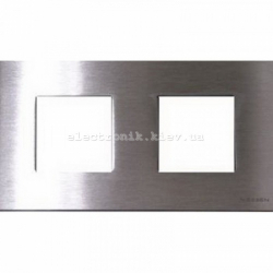 Рамка двойная ABВ Zenit сталь