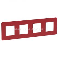 UNICA STUDIO Color РАМКА 4-постовая, красный/белый