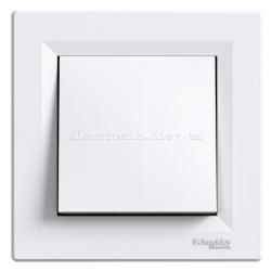 Выключатель Schneider (Шнайдер) Asfora 1-клавишный белый