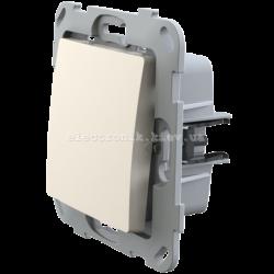 Кнопка-вимикач без фіксації одноклавішна PLANK слоновая кость