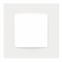 Рамка одномісна PLANK Nordic белая