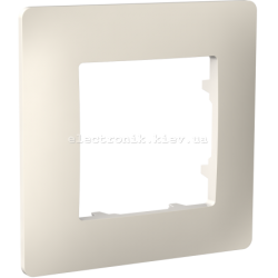 Рамка одномісна PLANK слоновая кость