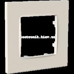 Рамка одномісна PLANK Nordic слоновая кость