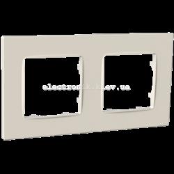 Рамка двомісна PLANK Nordic слоновая кость