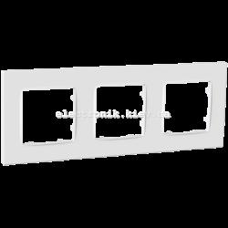 Рамка тримісна PLANK Nordic белая