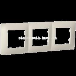 Рамка тримісна PLANK слоновая кость