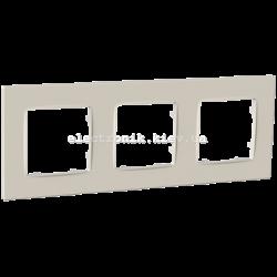 Рамка тримісна PLANK Nordic слоновая кость