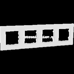 Рамка чотиримісна PLANK Nordic белая