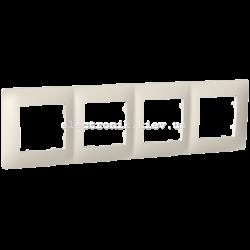 Рамка чотиримісна PLANK слоновая кость