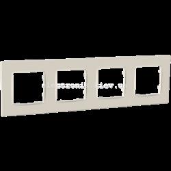 Рамка чотиримісна PLANK Nordic слоновая кость