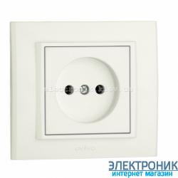 Розетка MINA 1-я белая OVIVO