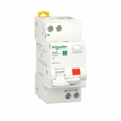 Дифавтомат RESI9 Schneider Electric 6 А, 30 мA, 1P+N, 6кA, категория С, тип АС
