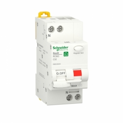 Дифавтомат RESI9 Schneider Electric 32 А, 30 мA, 1P+N, 6кA, категория С, тип АС
