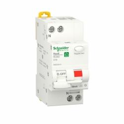 Дифавтомат RESI9 Schneider Electric 10 А, 30 мA, 1P+N, 6кA, категория С, тип А