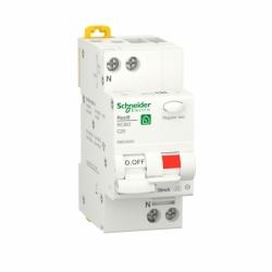 Дифавтомат RESI9 Schneider Electric 20 А, 30 мA, 1P+N, 6кA, категория С, тип А