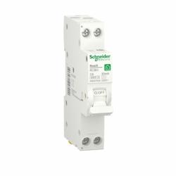 Компактний Дифавтомат RESI9 Schneider Electric 6 А, 30 мA, 1P+N, 6кA, категория С, тип АС