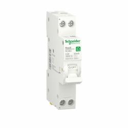 Компактний Дифавтомат RESI9 Schneider Electric 25 А, 30 мA, 1P+N, 6кA, категория С, тип АС