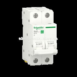 Автоматический выключатель RESI9 Schneider Electric 16 А, 2P, категория В, 6кА
